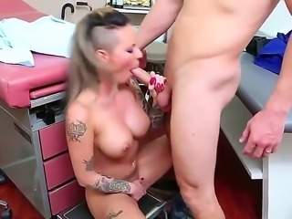 Tough tattooed beauty Christy Mack is getting some sexual healing from doctor...