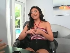 This sexy Latin babe has her First time ever audition in the office. she...