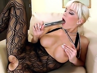 Slutty Cindy Dollar ravages her tight cunt in wild and nasty solo masturbation