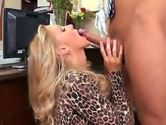 Julia Ann pleases her horny boss Keiran Lee by giving him a nasty but superb...