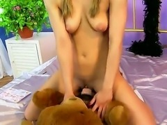 Sexy teen blonde, Nicky Thorne is all alone in her bedroom. Her pussy starts...