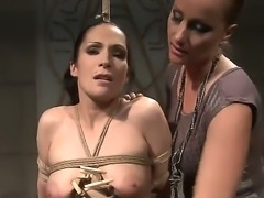 Magnificent and hard domination from Katy Parker over Carmen, she has her...