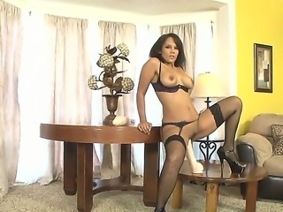 Anjanette Astoria was bored and she wants to fuck then she fucks her gigantic dildo and masturbates