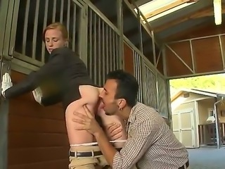 Harsh babe with a spanking stick Ryann knows that Voodoo doesnt like it the easy way