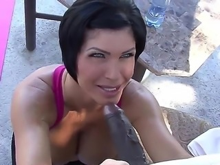 Gorgeous milf Shay Fox looks so sweet with her beautiful blue eyes and a fat...