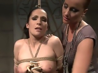 Magnificent and hard domination from Katy Parker over Carmen, she has her completely tied up and does a lot of crazy and bizarre stuff to her lovely tits and her naughty vagina.