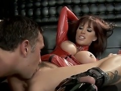 Crazy hot lady Gia DiMarco fucking hard with Keiran Lee in the club before...