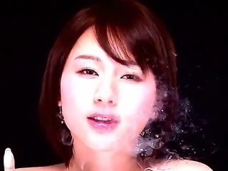 Asian petite babe with elegant boobies
