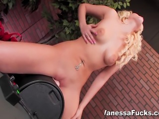 Sexy Vanessa Cage Decides To Go All Out And Takes On The Sybian With Her Tight Wet Pussy