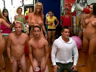 Famous pornstars Alexis Fawx, Jamie Valentine and Rachel Starr are at a wild group fuck college party enjoying young studs giving hard cocks here and there for horny busty sluts...