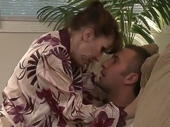 The sympathetic and appetizing milf pornstar Keiran Lee makes a deep blowjob...