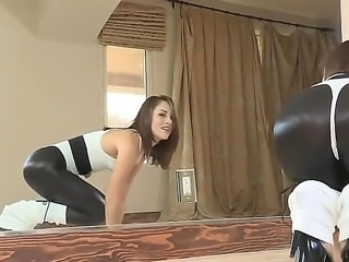 Adorable petite babe Kristina Rose demonstrates her amazing big ass in spandex pants. Babe knows that her looks amazing in the doggystyle.