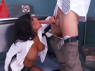 Crista Moore decides to take Johnny Sins unawares, but he seems to be well-informed about her encroaching on his big cock. Well, if she needs it, she will get it!