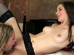 Great lesbian sex between Candy Sweet and Vanda Lust would turn you on....