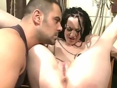 Dirty sex with BDSM elements in a basement with prisoner - seductive pornstar...