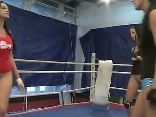 Today at the ring with have three hot and horny chicks Diana Stewart, Emma Butt and Larissa Dee