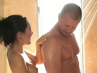 Asa Akiras career in this sex massage salon is suddenly in danger. Her stepbrother Eric has come by to get his rocks off and Guess who he sees there Gotta calm him down somehow