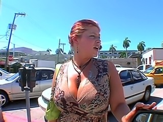 Big titted MILF Eden gets invited to show her incredible cock sucking skills in front of the camera. This horny mom knows how to make a dick bulge deep in her throat!