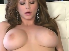 Juicy babe Emily Addison with wide opened pussy enjoys deep fingering and...
