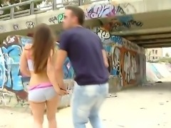 Hot and crazy public sex in which amateur bitch Carla Cruz is ready to suck a...