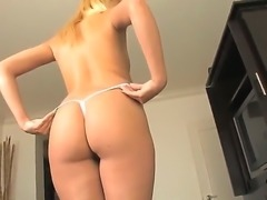 Provocative young blonde slut Katie Summers