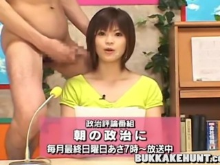 Mosaic; Japanese bukkake tv newscaster
