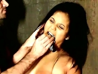 James Deen has almost let Asian hoochie Lana Violet get away from his dungeon but Fortunately, she tripped over something mere inches away from freedom and got caught and tamed!