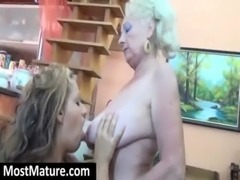 Mature bitch gets slit licked free
