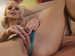 Hot Jana Cova spanking her precious pussy and masturbating using a very big...