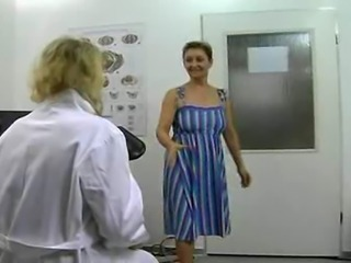 another pair of ancient amateur Hungarian exotic dancers. This time they play doctor and patient. 