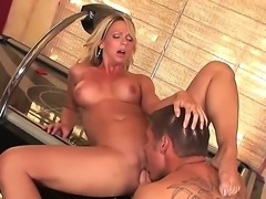 Busty blonde Brianna Beach opens her sweet mouth and gets a big and strong cock