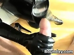 Whooping Amazing Latex Milf Fetish Hardcore