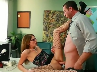 Kara Price caught her worker Jordan Ass smoking in the office. Now she needs to fine him, but Ms. Price doesnt want to get his money, she has better ideas on that score!