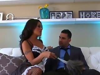 Charming asian maid Kaylani Lei in