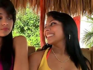 Twins Daniela and Luchy is so horny today, their vacation just started and...