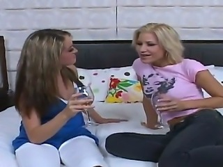 Nichole and Nikki drink some wine, chat about some bullshit and then get to the main point of their meeting - unbelievably hot and tender lesbian sex! Its fantastic!