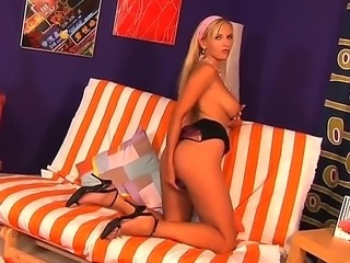 Euro teen chick Chikita wants to become an expencive prostitute, so she started with some solo masturbation videos, that she uploads in the Internet. She has sweet body and pretty face