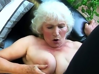 Beautiful old mature Norma is showing her sweet saggy titties and is having her old pussy licked out by the handsome younger guy, that likes the taste of such babes.