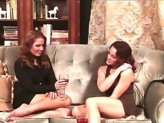 Two prepossessing lesbian pornstars Inari Vachs and Natasha Nice start to...