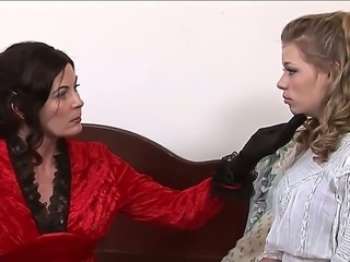 The beautiful Milf pornstar Magdalene St. Michaels punishes her stepdaughter Nicole Ray