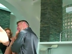 A backstage movie with buxom blonde lady Ana Monte Real and her lover with...