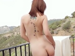 Sexy babe Hayden enjoys feeling her soft body in amazingly hot outdoor session