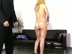 We love to corrupt new blondes! We love it when they come in to our office...
