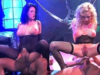 Enjoy this nasty video where several dirty bitches fuck with guys in the night club on the stage. They are not shy at all and they have great adventure together!