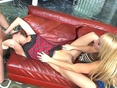 Mellanie Monroe and Victoria Lawson look like they need some help in their...