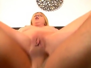 Blonde bitch Aria Austin rides up big dong of Will Powers getting it deep into snatch. She gives rodeo on the shlong getting tons of delight before feeling it into anus too.