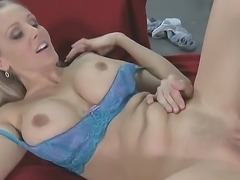 James Deen came to his friends mom - flamboyant blonde MILF Julia Ann to fuck...