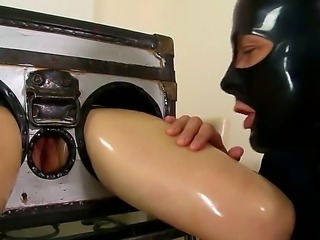 This kinky latex fetish scene featuring Latex Lucy is something special....