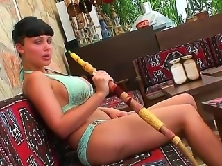 Just forget about all other things and start getting tons of pleasure with Aletta Ocean! This girl would pose in her sexual lingerie or bikini smoking hookah during it.