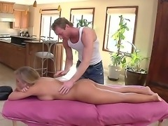 Nicole Aniston cant live alone anymore. She calls for her masseur guy and...
